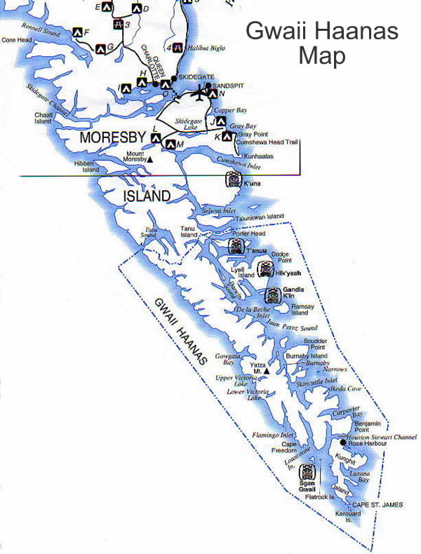 on queen charlotte islands map