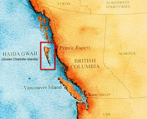 Queen Charlotte Islands On A Map Of Canada Haida Gwaii, South Moresby   Queen Charlotte Islands Map